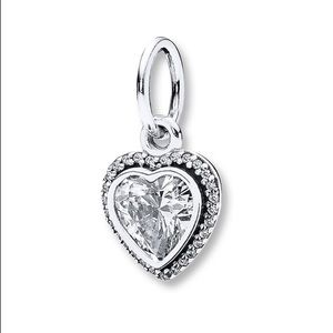 PANDORA Charm Sparkling Love Sterling Silver